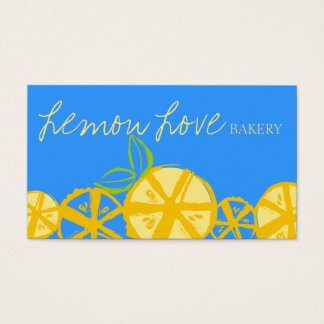 custom colour lemon slices baking cooking catering business card