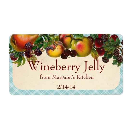Custom colour mixed fruit canning label polka dot shipping label