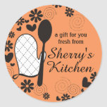Custom colour oven mitt spoon cooking bakery label
