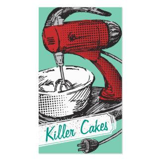 Custom colour retro stand mixer baking bakery card business card