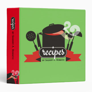custom colour steaming pot utensils recipe binder