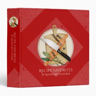 Custom colour utensils herbs recipe binder