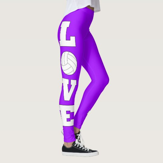 Custom Colour Volleyball Love Girls Leggings