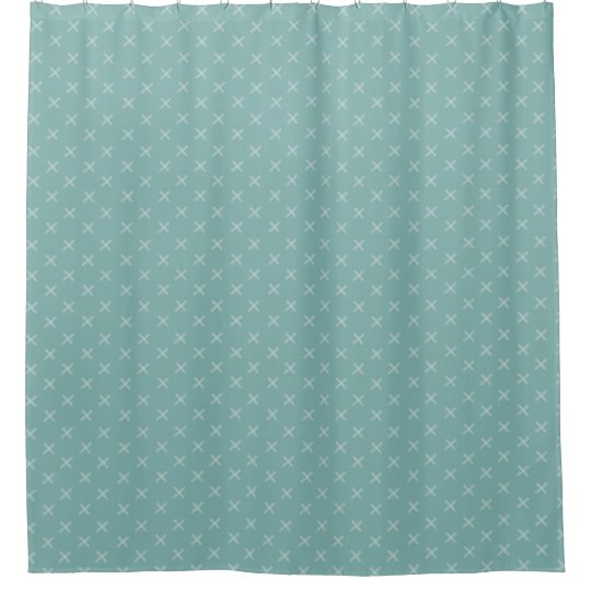 Custom Colour X Pattern Shower Curtain