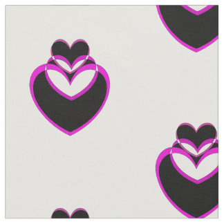 "Custom Combed Cotton (56"" width) Fabric Heart"