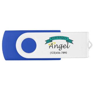 Custom Company Logo Branded USB Drive Swivel USB 2.0 Flash Drive