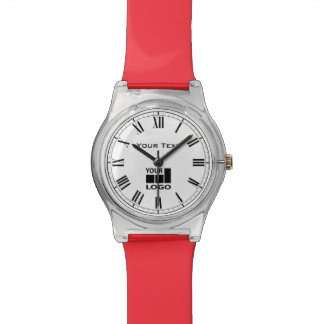 Custom company name and logo roman numerals watch