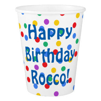 Custom Confetti Birthday Party Paper Cups