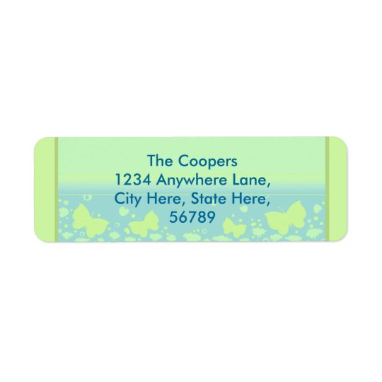 Custom Contemporary Return Address Labels