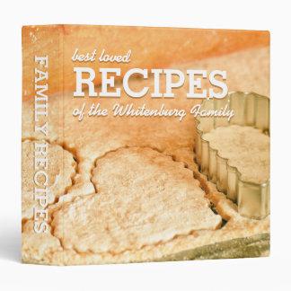 Custom Cookie Dough Hearts Family Recipe Binder