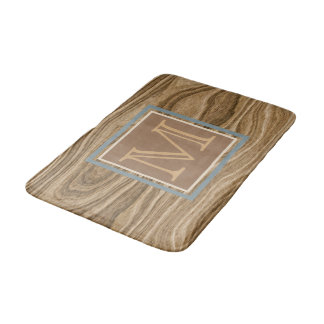 Custom Cool Artistic Abstract Tree Bark Pattern Bath Mat