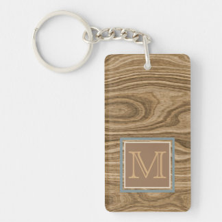 Custom Cool Artistic Abstract Tree Bark Pattern Keychain