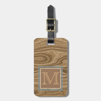 Custom Cool Artistic Abstract Tree Bark Pattern Luggage Tag
