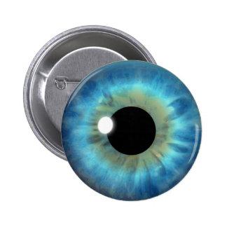 Custom Cool Blue Eye Iris Eyeball Fun Round Button