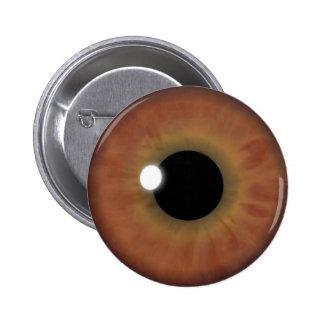 Custom Cool Brown Eye Iris Eyeball Round Buttons