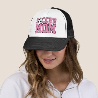 Custom Cool Fun Soccer Mom Text Trucker Hat