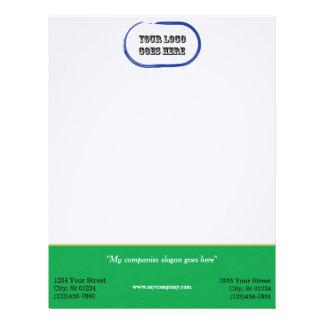 Custom Corporate Letterhead - Green/Gold Hori Bar