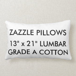 Custom Cotton Lumbar Pillow Blank Template