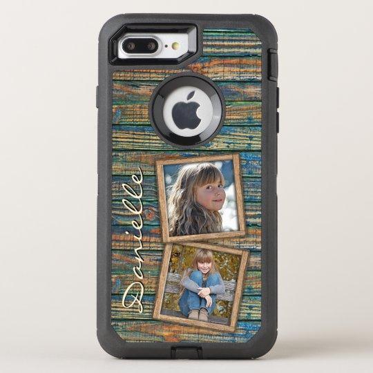 Custom Country Farmhouse Barn Wood Planks Pattern OtterBox Defender iPhone 8 Plus/7 Plus Case