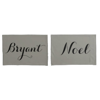custom couple pillow names or initials pillowcase