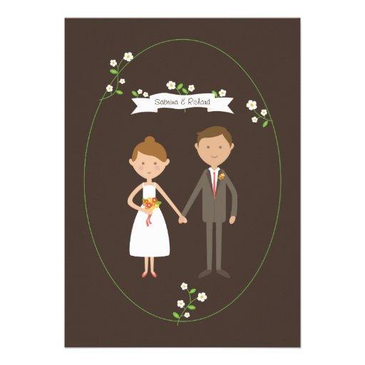 Custom Couple Portrait Illustration Wedding Custom Invite