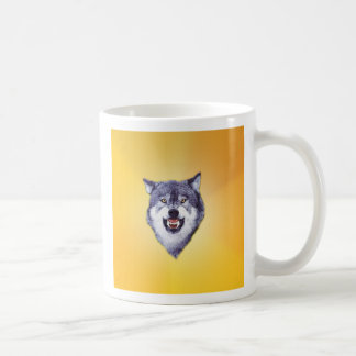 Custom Courage Wolf Template Coffee Mug