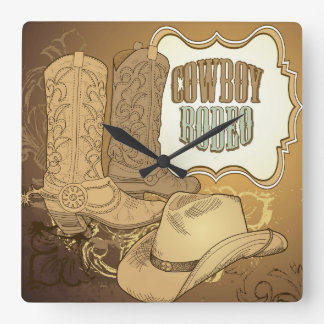 Custom Cowboy Rodeo Wall Clock