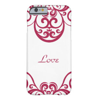 Custom, Cranberry Red, Ornate Design, Barely There iPhone 6 Case