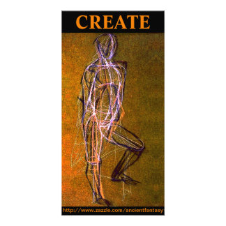 "Custom ""CREATE"" Fine Art Photocard Personalized Photo Card"