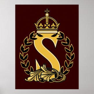 Custom Crown Monogram - S Poster