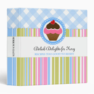 Custom Cupcake Bakery 1.5 inch Binder