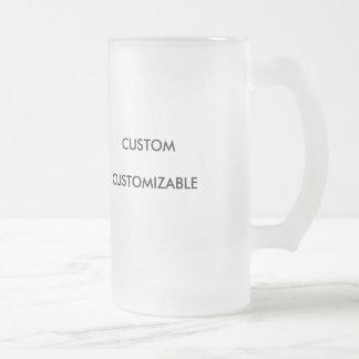 Custom Customize Customizable Blank 16 Oz Frosted Glass Beer Mug