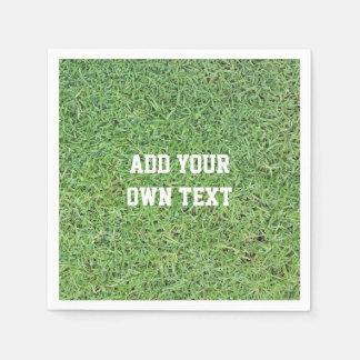 Custom Cut Grass Lawn Paper Napkin