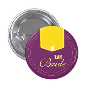 Custom Cute Buttons Wedding Team Bride Buttons