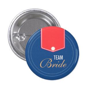 Custom Cute Buttons Wedding Team Bride Buttons