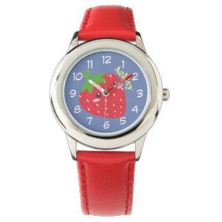Custom Cute Chibi Strawberry Watch