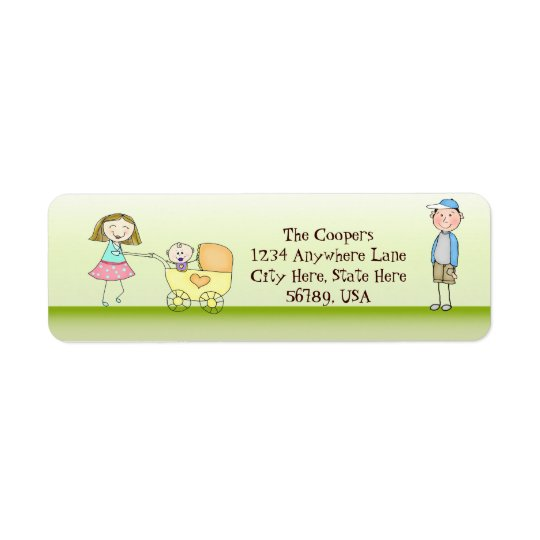 Custom Cute Family Return Address Labels