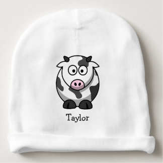 Custom Cute Funny Cartoon Cow Baby Beanie