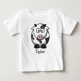 Custom Cute Funny Cartoon Cow Baby T-Shirt