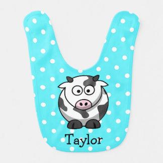 Custom Cute Funny Cartoon Cow Bib
