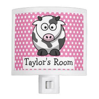 Custom Cute Funny Cartoon Cow Nite Light