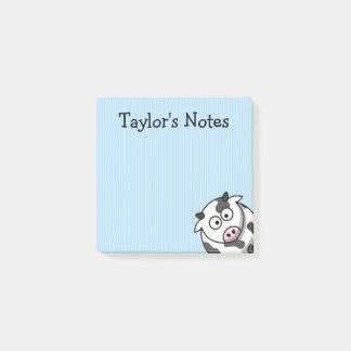 Custom Cute Funny Cartoon Cow Post-it Notes