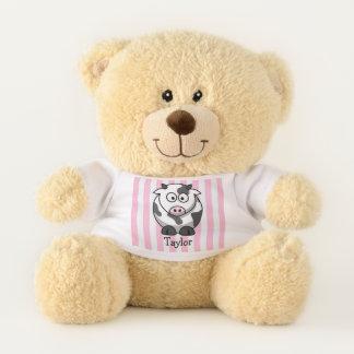 Custom Cute Funny Cartoon Cow Teddy Bear