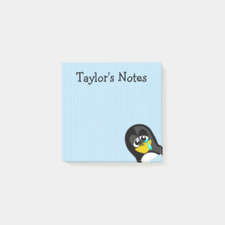 Custom Cute Funny Cartoon Crying Penguin Post-it Notes