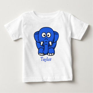 Custom Cute Funny Cartoon Elephant Baby T-Shirt