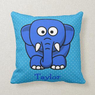 Custom Cute Funny Cartoon Elephant Throw Pillow