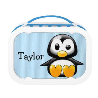 Custom Cute Funny Cartoon Penguin Lunch Box