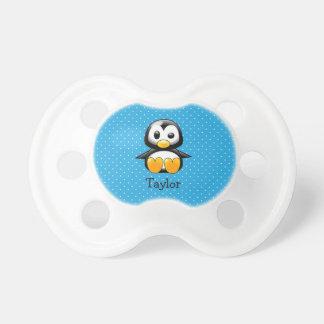 Custom Cute Funny Cartoon Penguin Pacifier