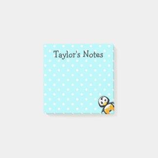 Custom Cute Funny Cartoon Penguin Post-it Notes