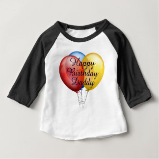 Custom cute Happy Birthday Daddy baby Shirt